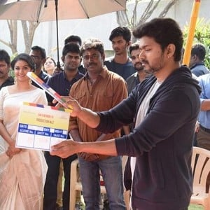 Just In: Vijay claps the first shot