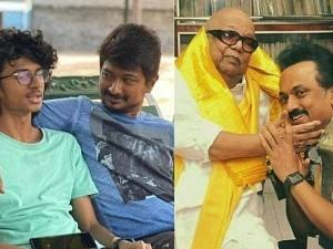 Udhayanidhi Stalin's son shares a viral FAMIILY PIC with his father, grandfather and Kalaignar!