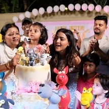Suresh Raina's daughter birthday celebration party